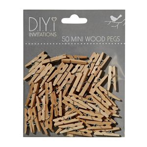 DIYi Mini Wood Pegs 50 Pack