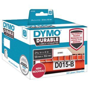 DYMO LW Durable Labels 59 x 102mm White Poly 300 Pack