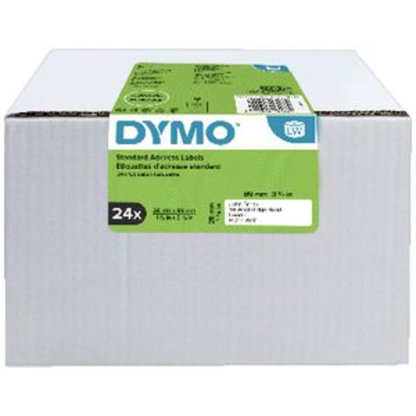 DYMO LabelWriter Address Labels 28 x 89mm 24 Roll Pack