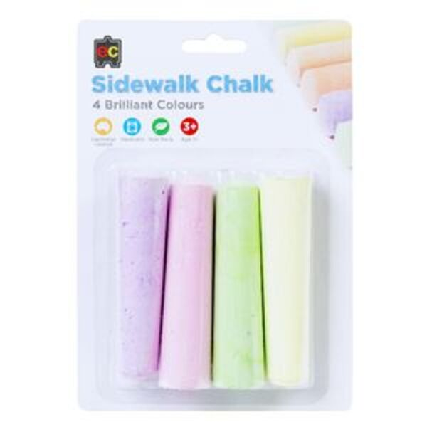 Educational Colours Sidewalk Chalk 4 Pack