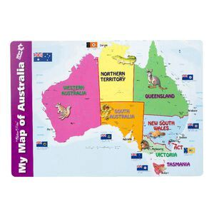 Gillian Miles My Map of Australia Placemat