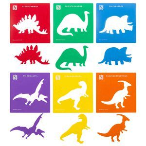 Educational Colours Dinosaur Stencils
