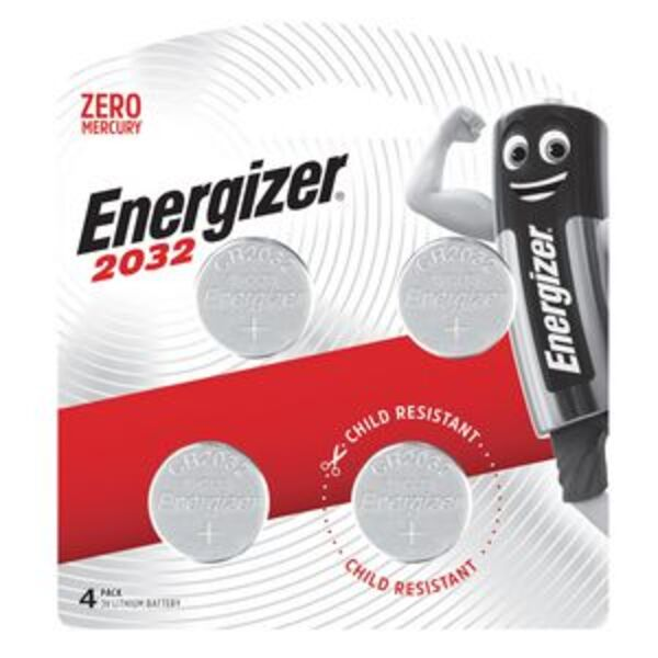 Energizer 2032 Lithium Coin Batteries 4 Pack