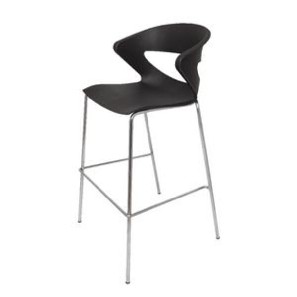 Strange Rapidline Taurus Bar Stool With Chrome Base Black Pdpeps Interior Chair Design Pdpepsorg