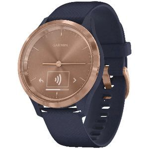 Garmin vivomove 3S Smart Watch Navy and Rose Gold