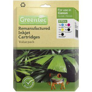 Greentec Canon CLI 526 Black and Colour 6 Ink Value Pack