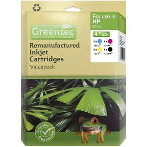 Greentec HP 920XL Black and Colour 4 Ink Value Pack