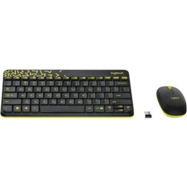 Logitech Wireless Keyboard and Mouse Black MK240