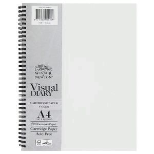 Winsor & Newton A4 Visual Diary 110gsm 60 Sheets Clear