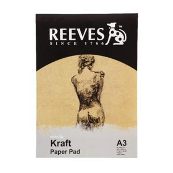 Reeves Kraft Paper Pad 110gsm 50 Sheets A3