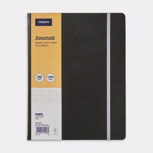 J.Burrows Large Journal 240 Page Black