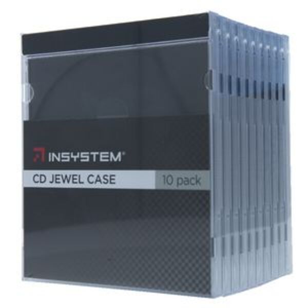 InSystem Jewel CD Case Black 10 Pack