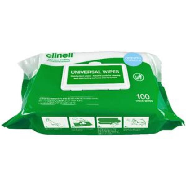 Clinell Universal Disinfectant Wipes 100 Pack