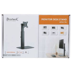 Brateck Single Screen Pneumatic Monitor Stand 17-32""