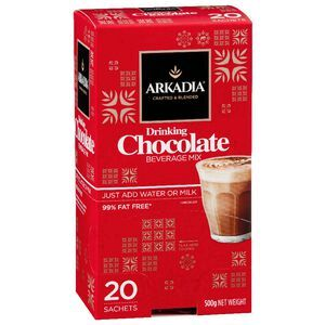 Arkadia Drinking Chocolate Sachets 20 Pack