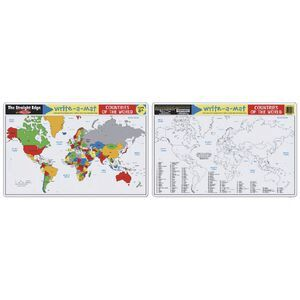 Melissa Doug World Map Write A Mat Officeworks