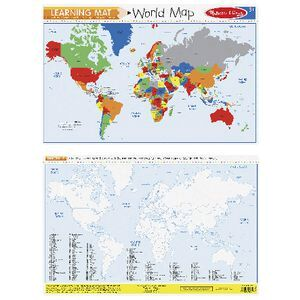 Melissa & Doug World Map Write-A-Mat