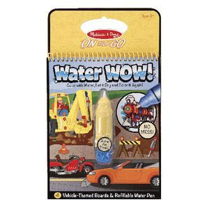 Melissa & Doug On the Go Water Wow Book Vehicles