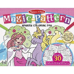 Melissa & Doug Magic-Pattern Marker Colouring Pad Pink