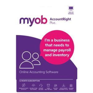 MYOB AccountRight Plus 1 PC 12 Month Card