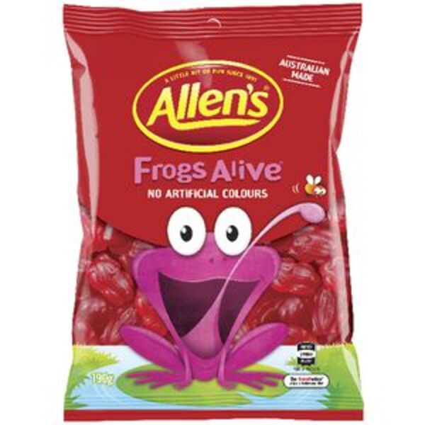 Allen's Lollies Frogs Alive 190g