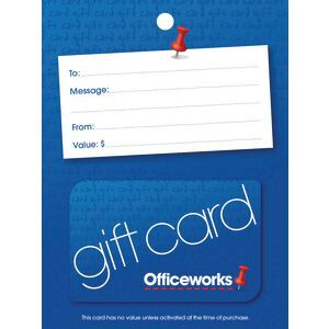 Officeworks Gift Card Blue Pin $20