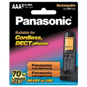 Panasonic Rechargeable Ni-MH AAA Batteries for DECT Phone