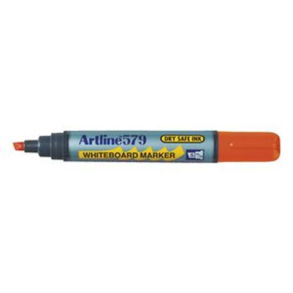 Artline 579 Whiteboard Marker Chisel Orange