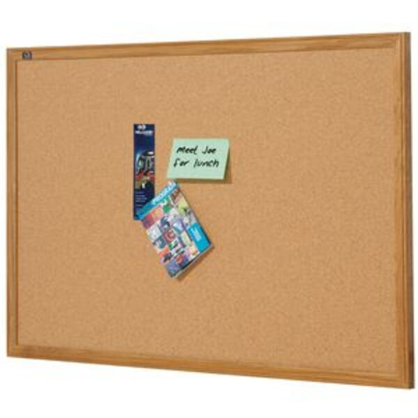 Quartet Oak Frame Corkboard 1200 x 900mm