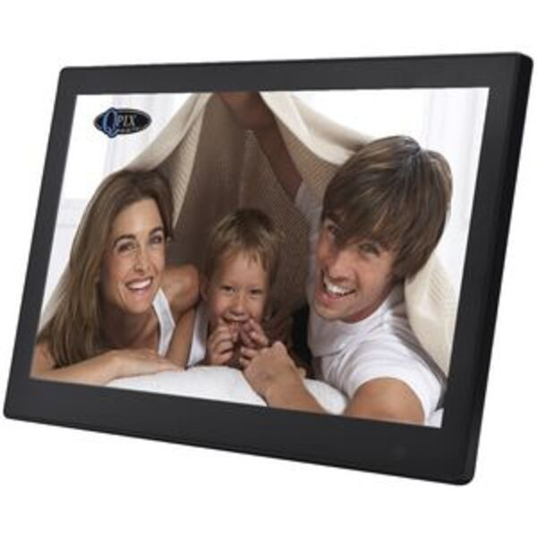 "QPIX 10"" Digital Photo Frame Full Function Black"