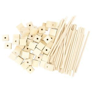 Little Learner Wood Blocks and Mini Stix Natural 40 Pack