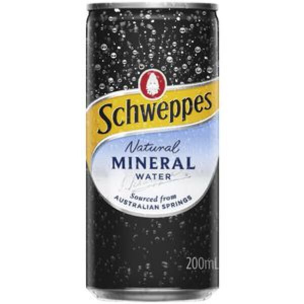Schweppes Mineral Water 200mL 24 Cans