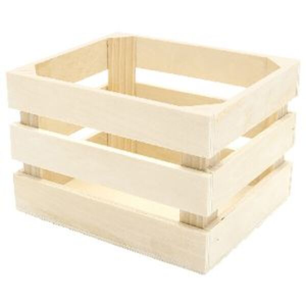 Little Learner Wooden Crate 15 x 12cm Officeworks
