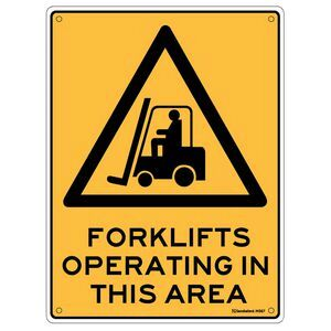 Sandleford Forklift Sign 225 x 300mm