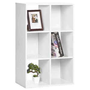 6 Cube Bookcase White