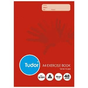 Tudor A4 Exercise Book 18mm Ruled 48 Pages