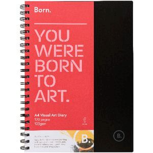 Born A4 Visual Art Diary FSC 120 Page