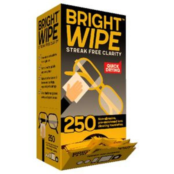 Brightwipe Lens Cleaner Wipes 250 Pack