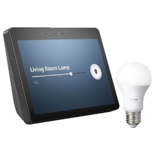 Amazon Echo Show 2nd Gen with E27 Bulb Charcoal