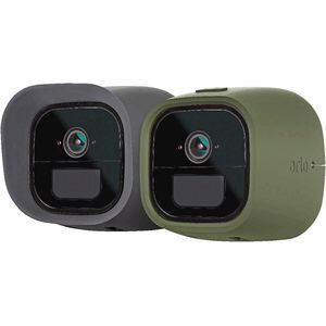Arlo Go Camera Skins Black and Green 2 Pack
