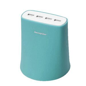 thecoopidea 4 USB Charging Station Blue