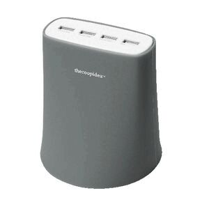 thecoopidea 4 USB Charging Station Grey