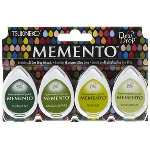 Tsukineko Momento Dew Drop Ink Pad Greenhouse 4 Pack
