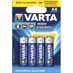 VARTA High Energy AA Alkaline Batteries 4 Pack