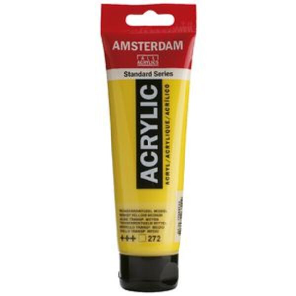 Amsterdam Acrylic Paint 120mL Transparent Yellow Medium 272