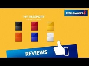 WD 4TB My Passport Portable Hard Drive Black | Officeworks