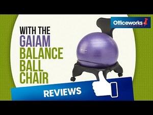 Gaiam Balance Ball Chair Black Officeworks