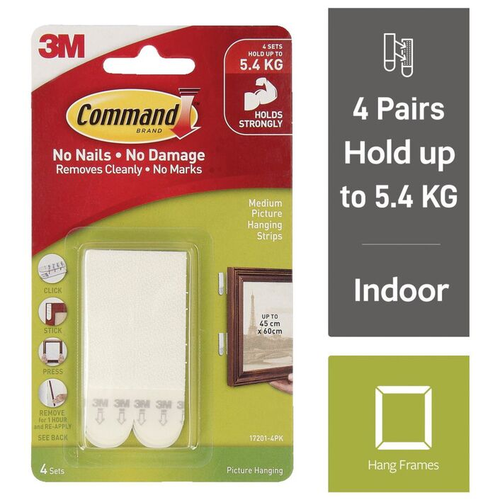 Command Picture Hanging Strips 4 Pack | Officeworks