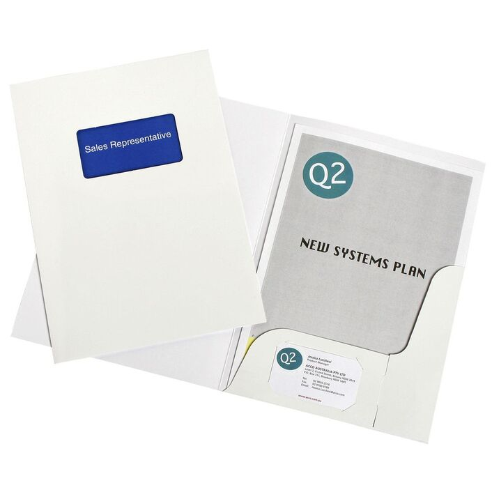 Marbig A4 Presentation Folders with Window 10 Pack   Officeworks