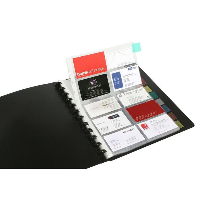 Marbig A4 Kwik Zip Business Card Book Black | Officeworks